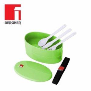 Schiscetta Termica Lunchbox Completa di Posate Verde