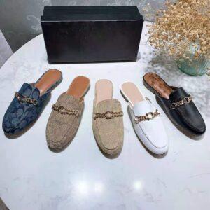 Scarpe Muller per il tempo libero moda pantofole Joker Baotou comode scarpe pigre scarpe da coppia 2021 nuove scarpe da donna CN (origine)