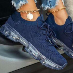 Scarpe vulcanizzate da donna Sneakers stringate da donna scarpe con cuscino d'aria Comfort leggero donna Casual traspirante donna taglie forti nuovo