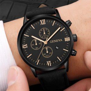 2021 Relogio Masculino orologi uomo moda Sport cassa in acciaio inossidabile cinturino in pelle orologio al quarzo orologio da polso da lavoro Reloj Hombr