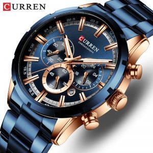 CURREN orologio da uomo orologi da uomo al quarzo sportivi di lusso delle migliori marche orologio da polso cronografo impermeabile in acciaio pieno da uomo Relogio Masculino