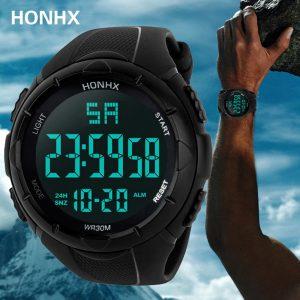 Moda uomo impermeabile ragazzo LCD cronometro digitale data orologio da polso sportivo in gomma orologio da polso elettronico Masculino Montre homme