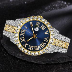 Orologio da uomo ghiacciato marca di lusso Full Diamond orologi da uomo AAA CZ orologio da uomo al quarzo orologio da uomo impermeabile Hip Hop regalo per uomo