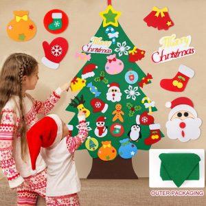 41PCS albero di natale in feltro fai-da-te decorazioni di buon natale per la casa 2021 ornamenti natalizi Noel Navidad regali di natale capodanno