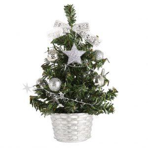 Albero di natale fai-da-te 20 CM Mini alberi di pino piccoli posizionati nel Desktop decorazioni per la casa decorazioni natalizie regali per bambini