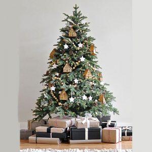 Capodanno 2022 1.2m 1.5m 180 cm 2.1m 2.4m m grande albero di natale artificiale con decorazione a luce LED regalo creativo per la casa nordica