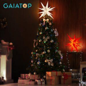 Gaiatop 3D moraria Star Light – 23 pollici Christmas Light Tree Topper decorazione di Halloween stella di betlemme utilizzata per alberi di natale